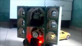 Miniatura de Paredão de Som (Paredinha Hulk)