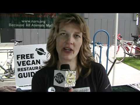 Fremont Fair: Rachel Bjork, Northwest Animal Rights Network Booth
