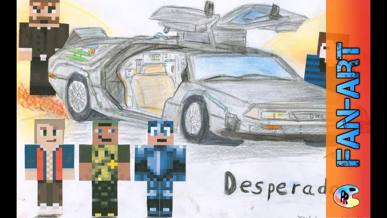 Minecraft Desperado Fanart Speed Drawspeed Drawing By PassiRein - Minecraft desperado hauser