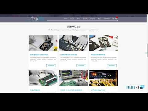 ProFix - Computer And Mobile Phone Repair Service Company + Shop HTML