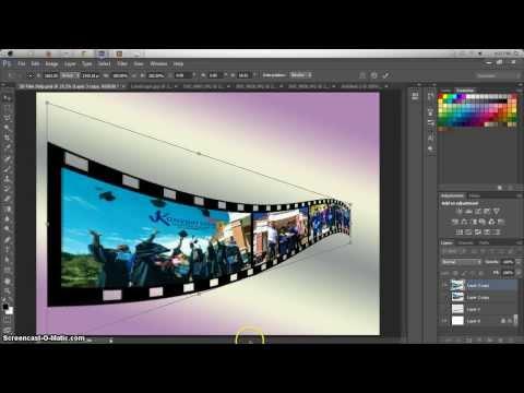 Menghasilkan Effek 3D Film Strip Dgn Photoshop