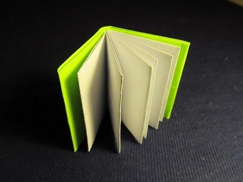 КНИЖКА ОРИГАМИ - легкая поделка из бумаги для начинающих. Видео