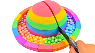 Satisfying Video | How To Make Rainbow Simple Hut with Kinetic Sand Cutting ASMR #371