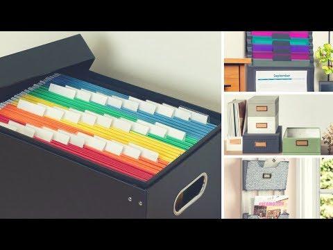 paper storage and organizer ideas