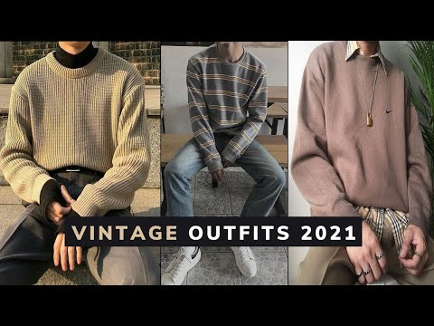 Vintage Outfits Ideas For Guys 2021 | How To Style Vintage Clothing For Men | Men's Style 2021