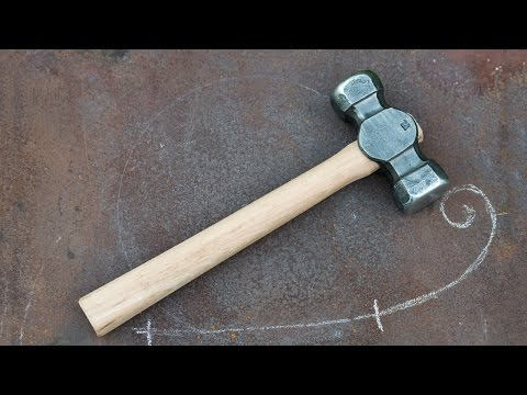 Blacksmithing - Forging my first 3lb rounding hammer