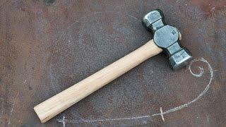 Blacksmithing Forging my first 3lb rounding hammer