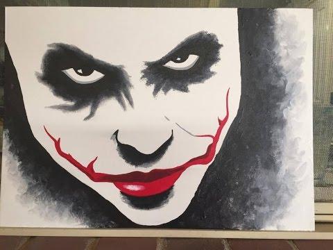 95 How To Paint The Joker Acrylic
