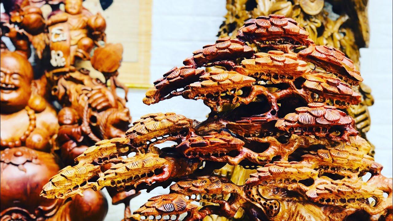 BONSAI CÂY TÙNG GỖ HƯƠNG ĐỘC LẠ ĐẸP – lh 0389889968- wooden carving