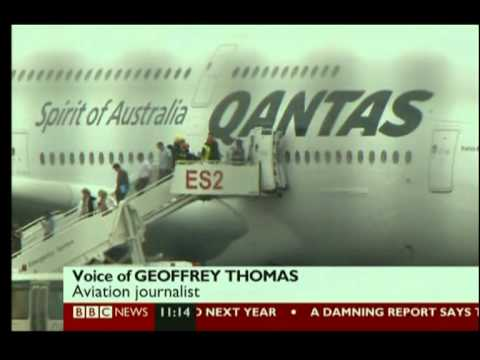 QANTAS A380 ENGINE EXPLODES NEAR SINGAPORE