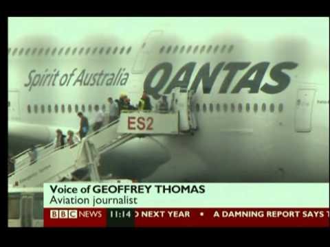 QANTAS A380 ENGINE EXPLODES NEAR SINGAPORE