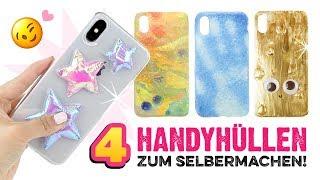 4 HANDYHÜLLEN DIYs + VERLOSUNG iPhone X 😱Smartphone Cover selber machen! Anleitung auf Deutsch