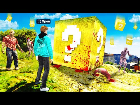 Opening ZOMBIE LUCKY BLOCKS In GTA 5.. (BAD IDEA)