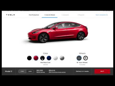 the Model 3 configurator - January 2018 (no commentary)