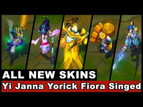 New Skins Eternal Sword Yi Sacred Sword Janna Soaring Sword Fiora Beekeeper Singed Arclight Yorick