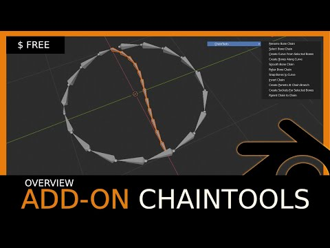 Blender Add-on Overview: ChainTools (Free)
