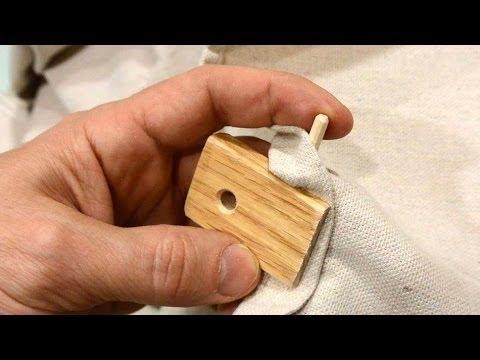 Making wooden tarp clips