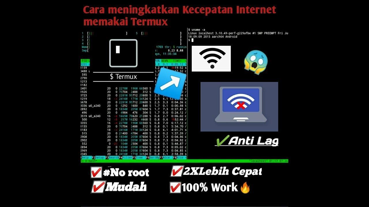 Cara Meningkatkan Kecepatan Internet,Menggunakan Aplikasi TERMUX ...