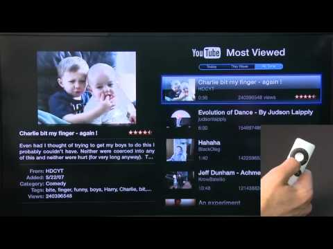 Using YouTube through AppleTV