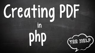 Creating pdf in PHP Mp3