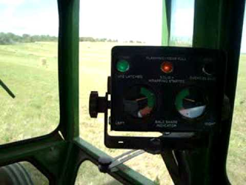 Baling Hay With The John Deere 530 Round Baler And The