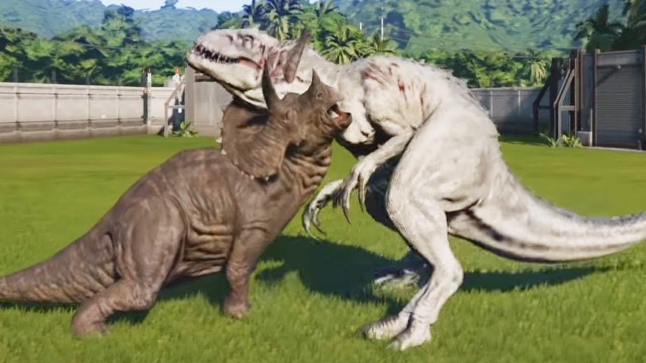 triceratops max vs indominus rex  jurassic world