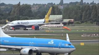 Plane spotting at Birmingham Airport with ATC - 26th August 2015
