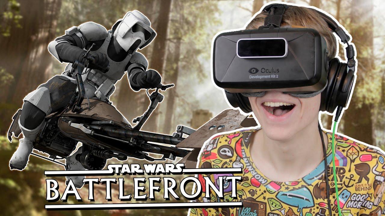 SPECTULAR VR EXPERIENCE ON ENDOR! | Star Wars: Battlefront (Oculus Rift DK2)