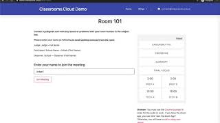 Accessing Classrooms.Cloud Rooms