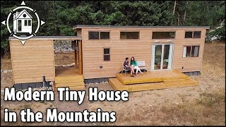 Modern Tiny Home Expands To The Outdoors & Sleeps 6!