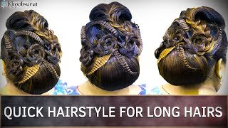 Quick Hairstyles For Long Hair | Easy Step By Step Hairstyle Tutorial for Long Hair | Khoobsurat