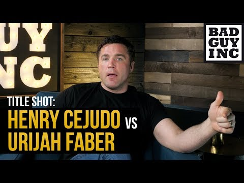 The case for Urijah Faber vs Henry Cejudo...