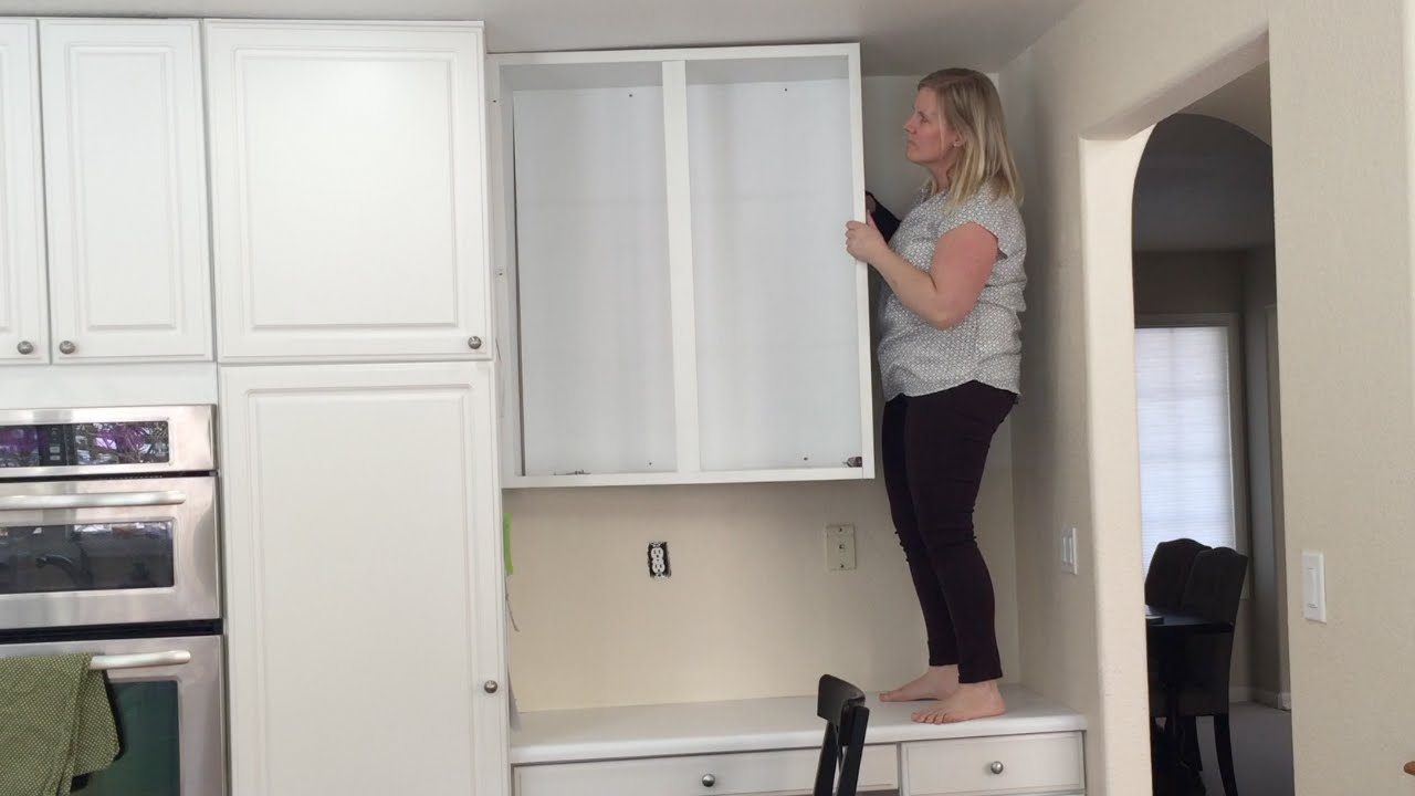 Removing An Upper Cabinet By Myself Time Lapse Youtube
