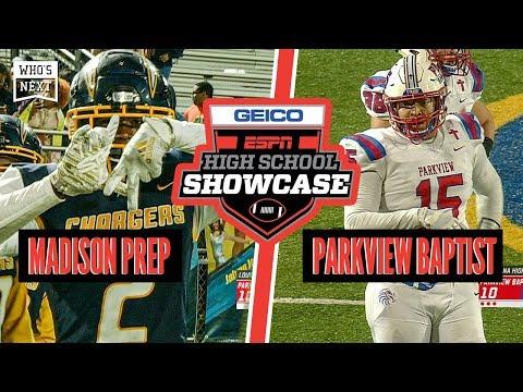Madison Prep (LA) Vs. Parkview Baptist (LA) Football - ESPN Broadcast Highlights