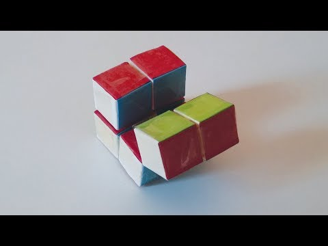 How to Make an Easy Infinity cube out of Paper!