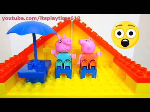 PEPPA PIG BLOCKS CONSTRUCTION HOUSE Jazwares Toys | itsplaytime612