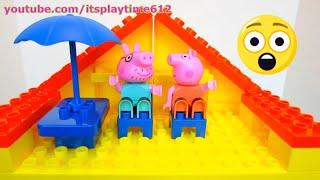 PEPPA PIG BLOCKS CONSTRUCTION HOUSE Jazwares Toys | itsplaytime612