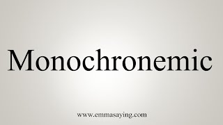 How To Say Monochronemic