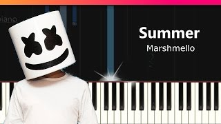 "Marshmello - ""Summer"" Piano Tutorial - Chords - How To Play - Cover"
