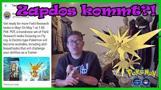 Neuer Feldforschungsdurchbruch?! ZAPDOS kommt - endlich kein Lavados mehr! Pokemon Go!