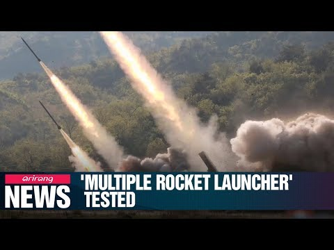 N. Korea confirms it test-fired new large-caliber multiple rocket launcher...