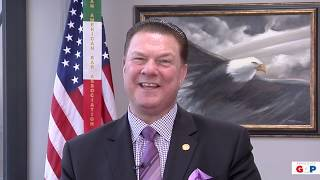 Sen. Peter J. Lucido reacts to 2019 State of the State