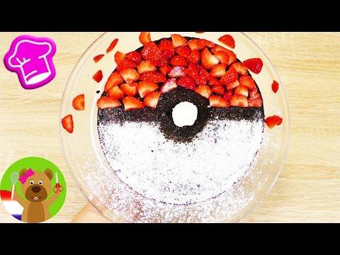 Pokéball Brownies | 'Pokémon Go' chocoladetaart met verse aardbeien & Raffaello | Yummy