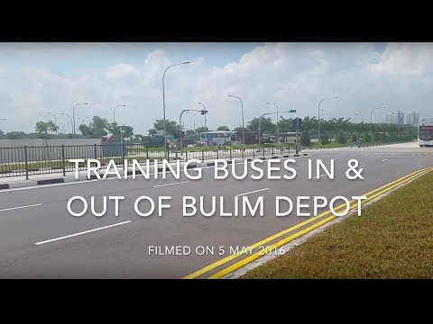 Training Buses In & Out of Bulim Depot