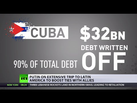Putin kicks off Latin America trip by writing off 90% of Cuba's debt