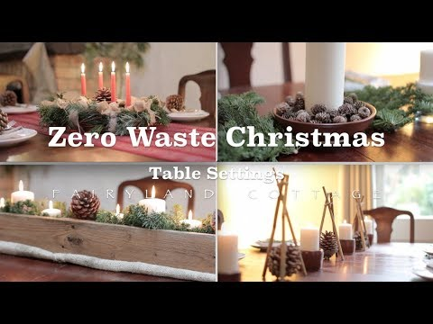 Zero Waste Christmas Table Centerpiece Ideas Simple And Natural