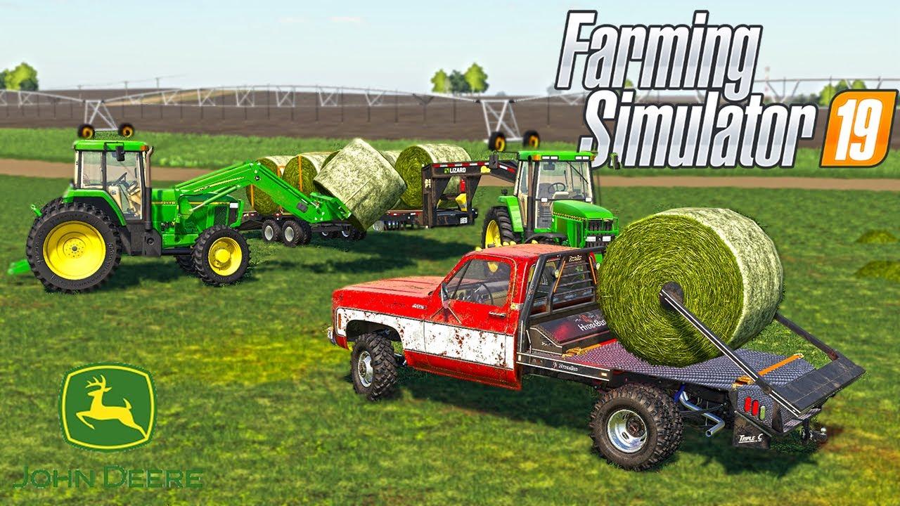 2000'S FARMING HAULING HAY BALES   (ROLEPLAY) FARMING SIMULATOR 2019
