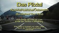 Pitztal in Tirol – Austria/Autriche/Österreich - Durch die Windschutzscheibe - Komplett/Echtzeit