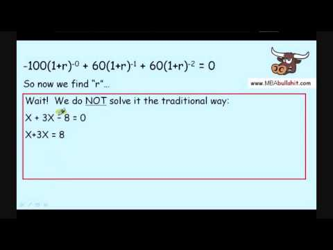 IRR Part 2 of 3 How to Calculate Internal Rate of Return Explained MBAbullshit.com
