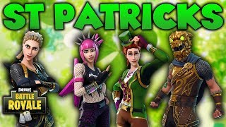 ST PATRICKS DAY UPDATE, SKINS & CUSTOMIZATION: Fortnite Battle Royale St Patricks Day Update